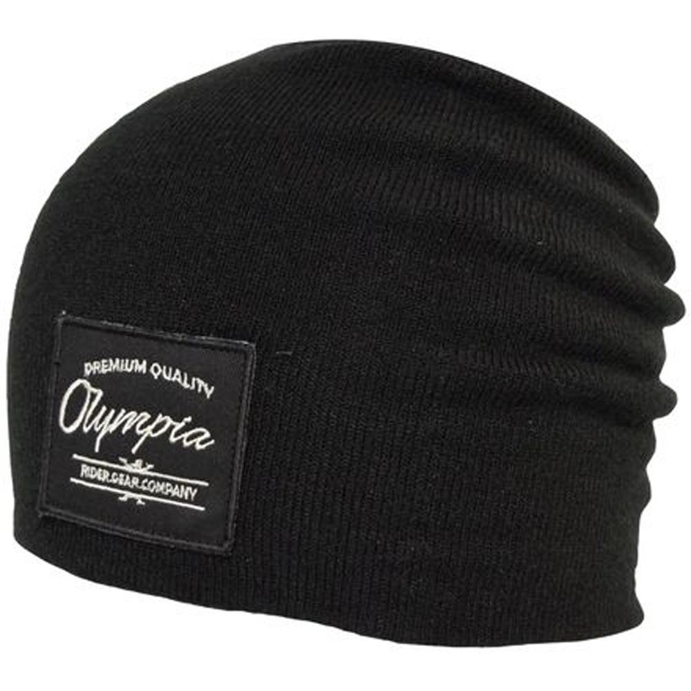 Red Deer Beanie Hat Olympia OS BLACK