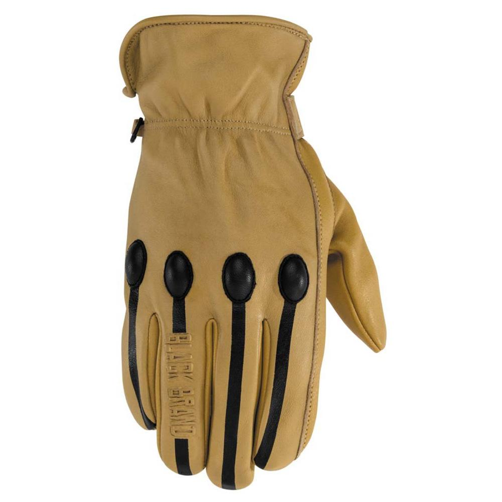 Retro Leather Glove Street Glove Black Brand SM TAN