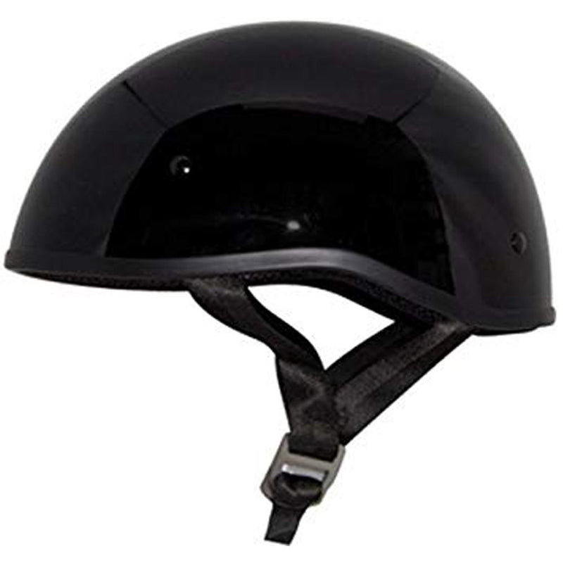 Retro Old School Solid Helmet Street Helmet Zox XS BLACK ADULT