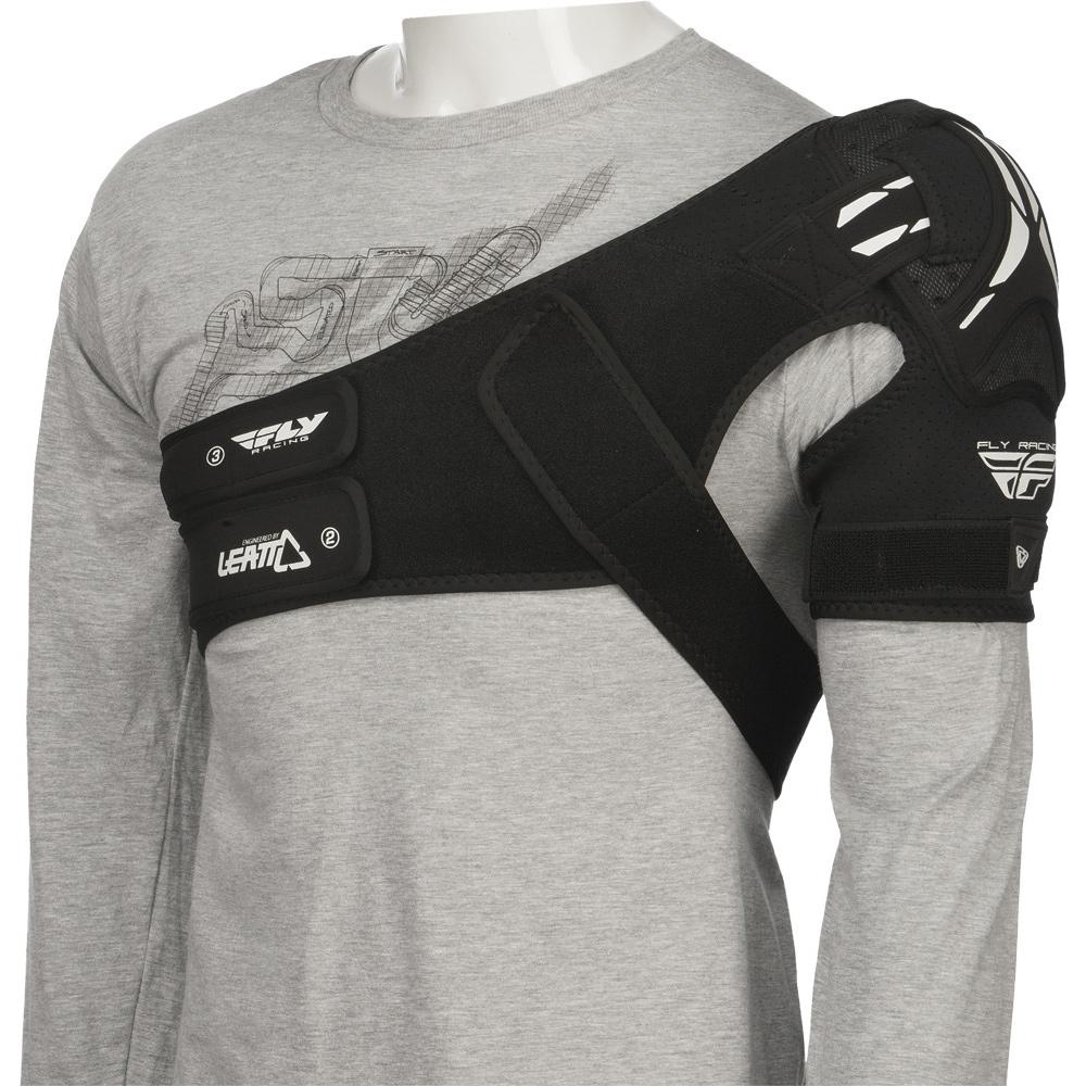 Shoulder Brace Protective Gear Fly Racing S/M WHITE LEFT
