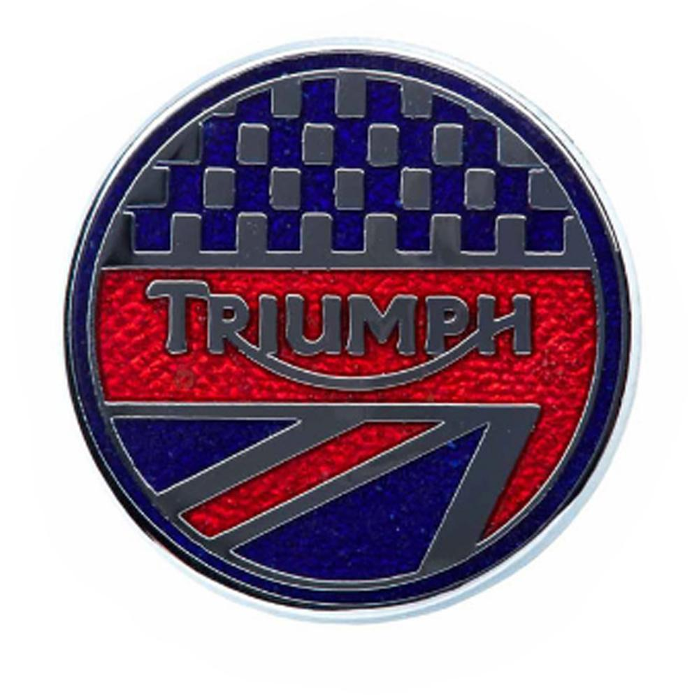 MPBS12198 Triumph motorcycles Union triangle Pin Badge
