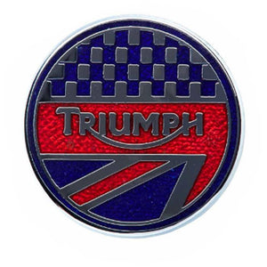 SPORTS PIN BADGE Lifestyle, Gifts, Media Triumph OS Blue