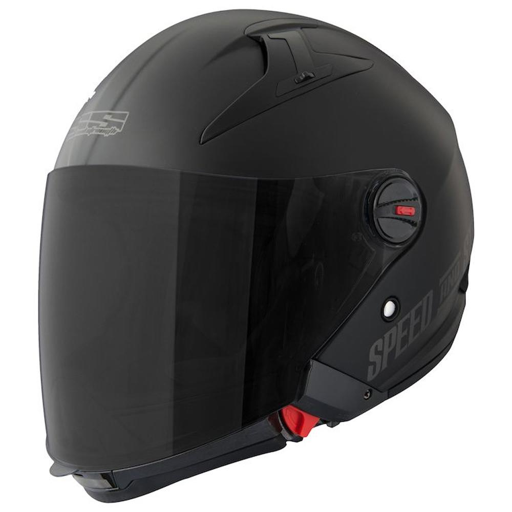 SS-2210 Spin Doctor Helmet Street Helmet Speed & Strength XS FLAT BLACK