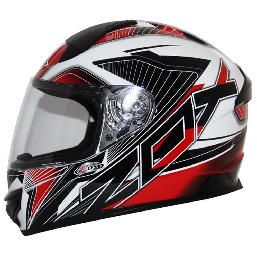 Thunder R2 Force Helmet Street Helmet Zox XS RED ADULT