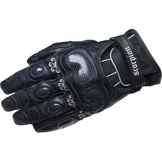 Women's Fiore Short Glove Street Glove Scorpion Exo Women's XS Black Women's