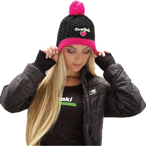 Women's Kawi Girl Sweetie Beanie Hat Kawasaki Black Women's