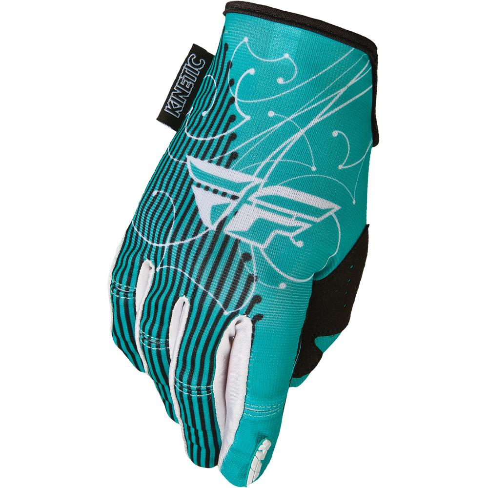 Womens Kinetic Glove Offroad Glove Fly Racing XS TEAL WOMENS