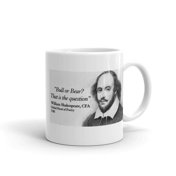 Bull or Bear? Shakespeare Mug