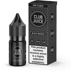 Black Aniseed 10ml Eliquid By Club Juice