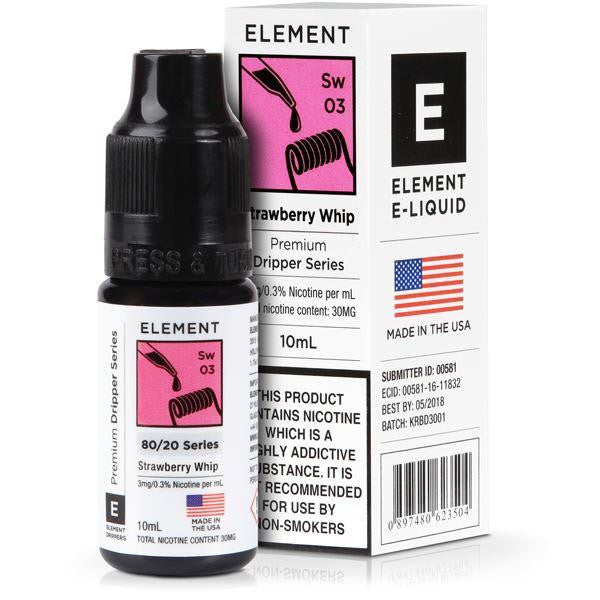 Element 10ml Strawberry Whip Eliquid