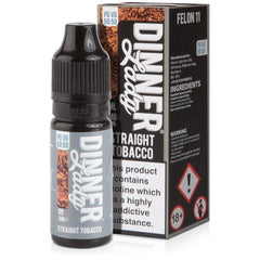 Straight Tobacco 10ml Eliquid By Dinner Lady