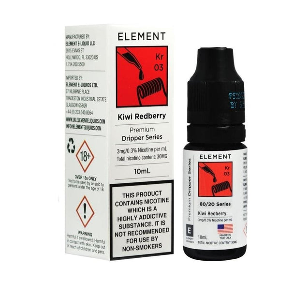 Kiwi Redberry Eliquid By Element
