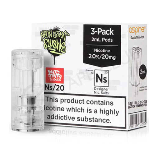 NS20 & NS10 Neon Green 6ml(3x2ml)  Pod