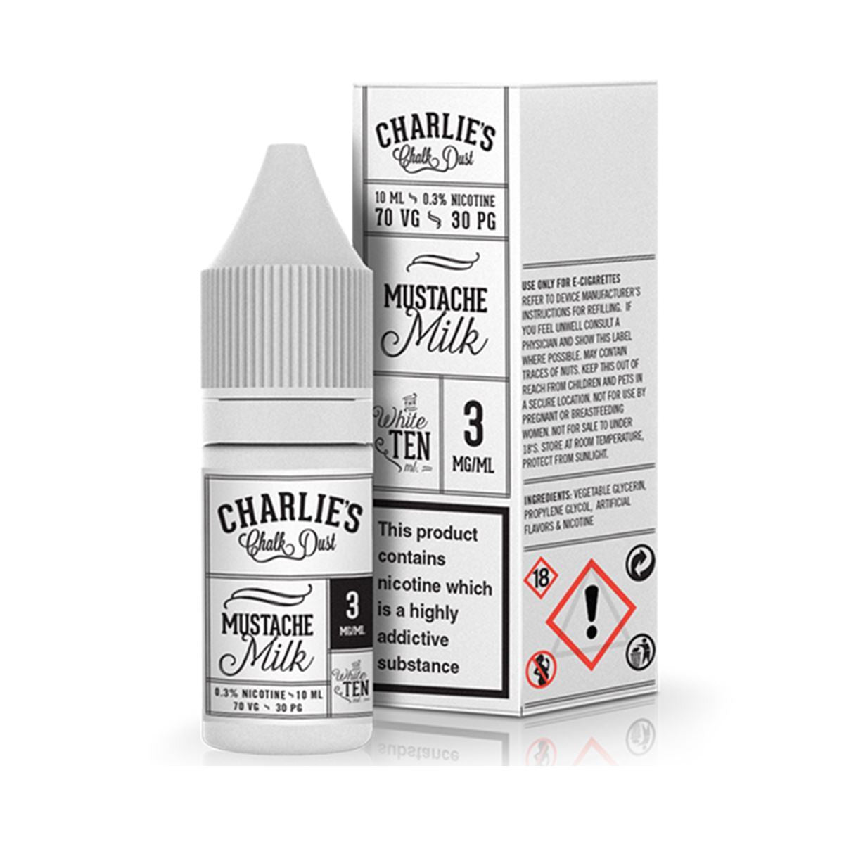 Mustache Milk Eliquid By Charlie's Chalk Dust