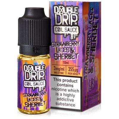 Strawberry Laces Sherbet 10ml Eliquid By Double Drip Coil 10ml