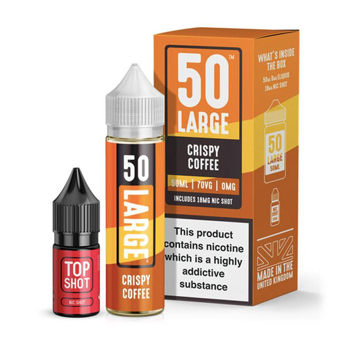 Crispy Coffee 50ml Eliquid By 50 Large Juice
