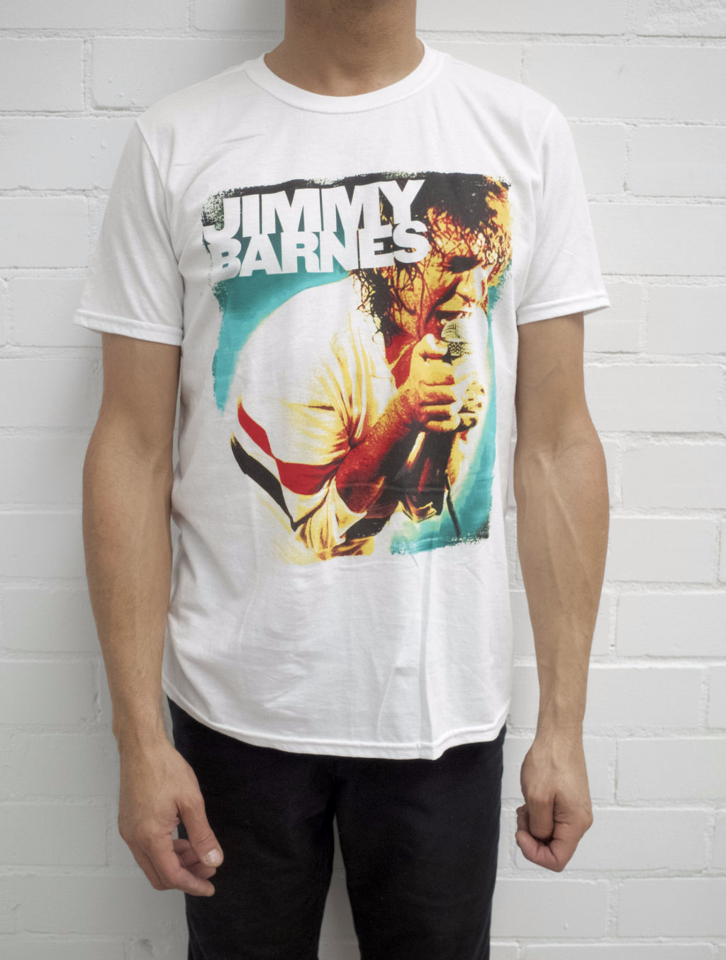 Retro  'Jimmy Barnes' T-Shirt - Jimmy Barnes Online Store