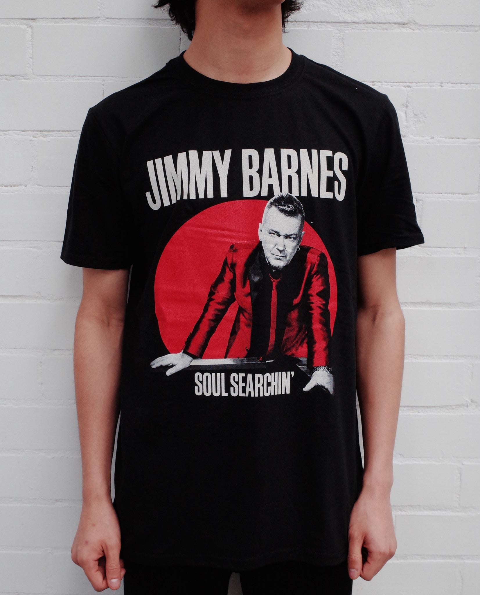 Black 'Soul Searchin' Tour T-shirt - Jimmy Barnes Online Store