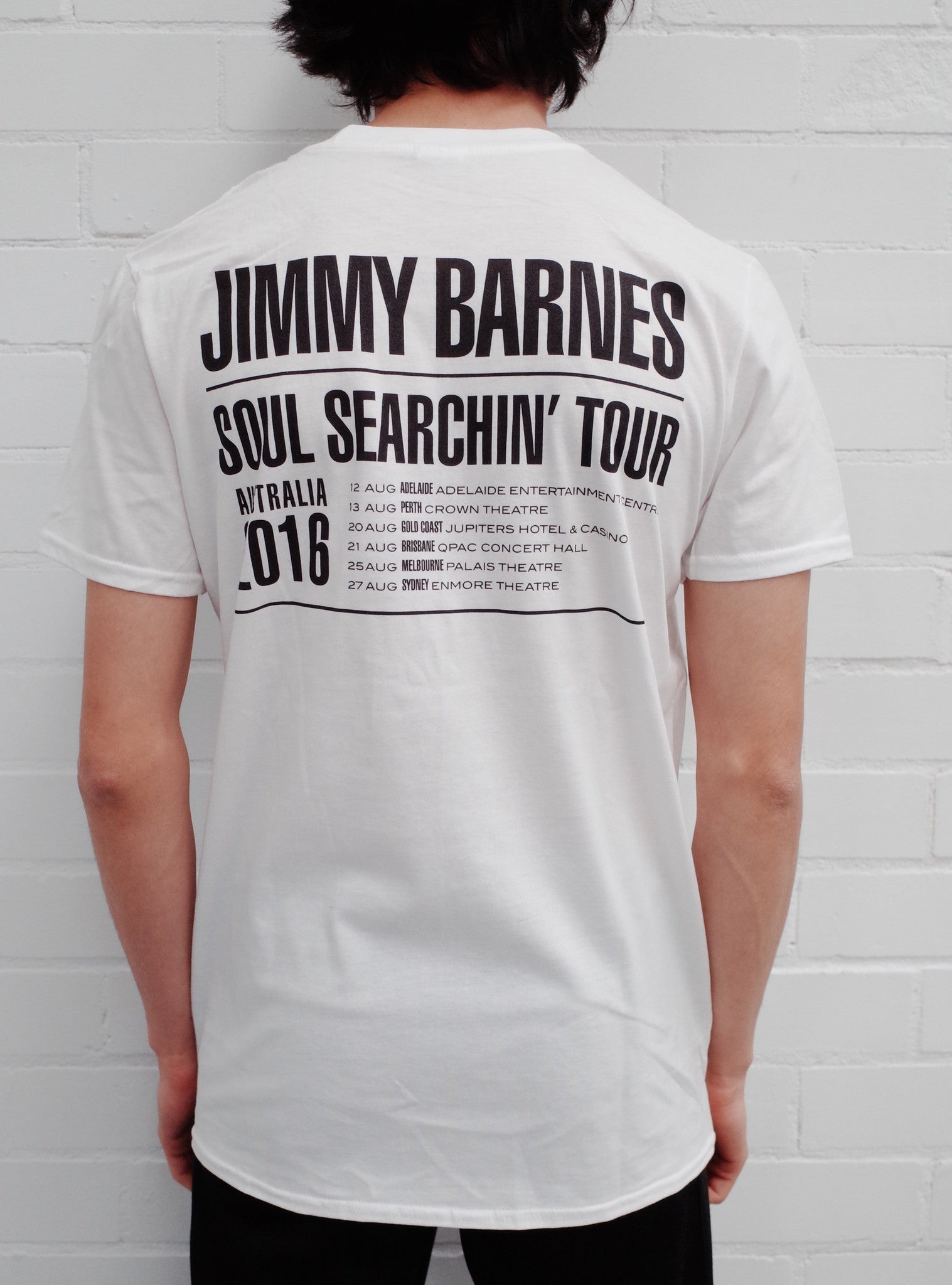 White 'Soul Searchin' Tour T-shirt - Jimmy Barnes Online Store