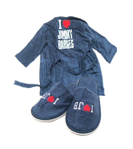 'I Love Jimmy Barnes' Robe + Slippers - Jimmy Barnes Online Store