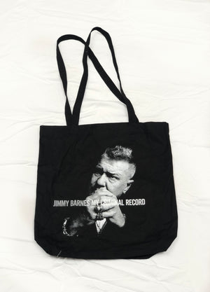 'My Criminal Record' Tote Bag - Jimmy Barnes Online Store