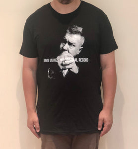 'My Criminal Record' Black T-shirt - Jimmy Barnes Online Store