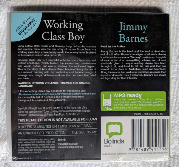 Working Class Boy Audiobook CD
