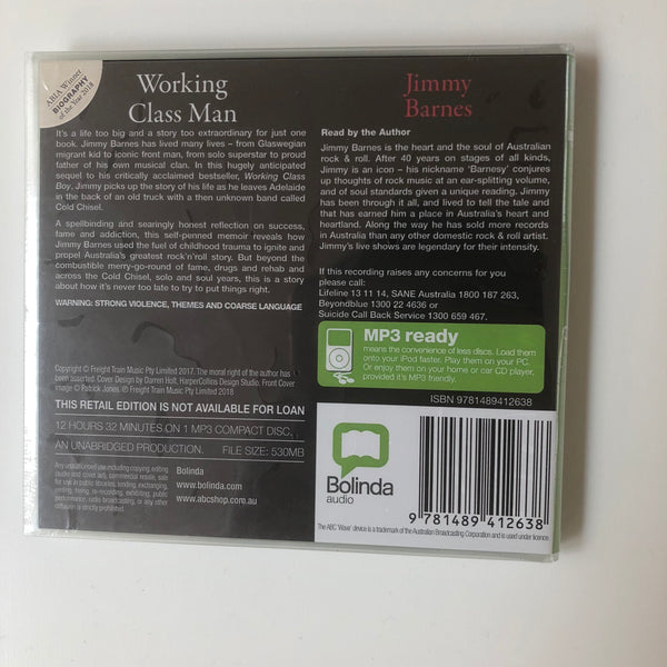 Working Class Man Audiobook CD