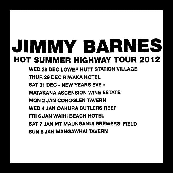 'Hot Summer Highway NZ '  T-shirt - Jimmy Barnes Online Store