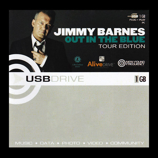 Out in the Blue / Live at the Playroom 84 - 1 GB USB bracelet - Jimmy Barnes Online Store
