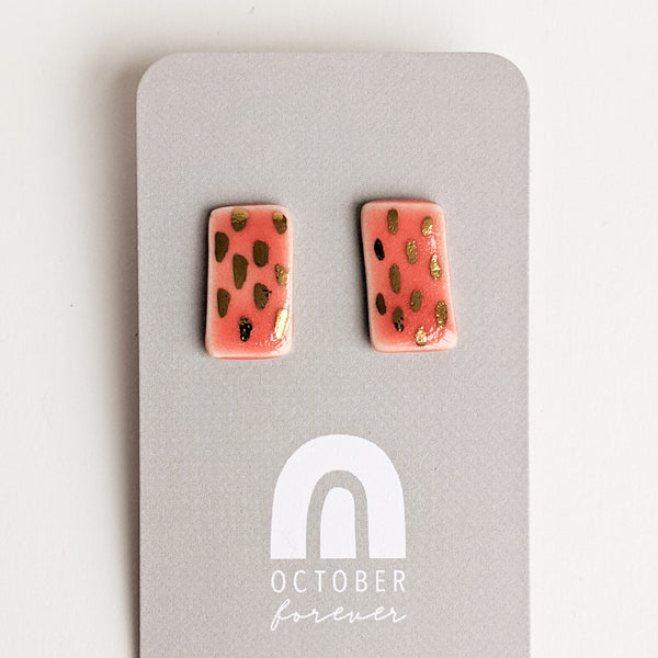 Unique Earrings | Dash Rectangles - October Forever