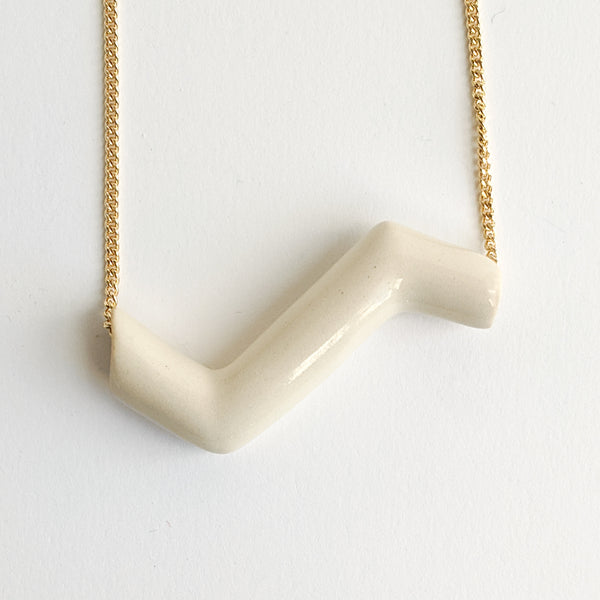 Statement Necklace, Zig Zag Pendant - October Forever