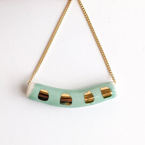 Teal Dash Tube Pendant