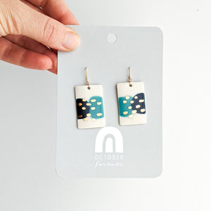 Rectangle Field Dangles in Everblue Mix