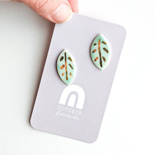 Leaf Statement Studs