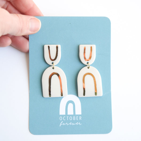 Golden Rainbow Dangles- Arch Up - October Forever
