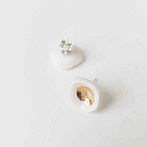 Tiny Bowls of Gold Studs - October Forever