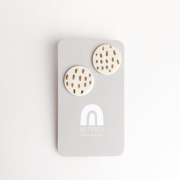 Dash Statement Studs - October Forever