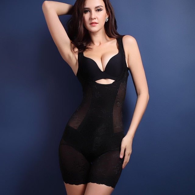Firm Control Open-Bust Body Shaper - Black