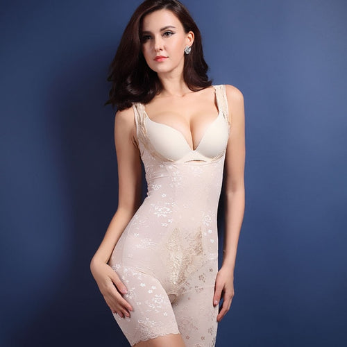 Firm Control Open-Bust Body Shaper - Nude