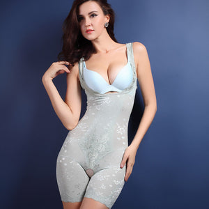 Firm Control Open-Bust Body Shaper - Light Blue