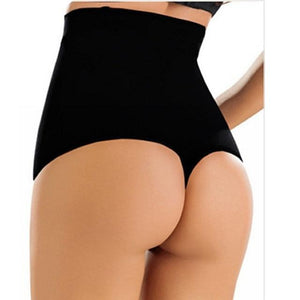 Thong High-Waist Trainer & Butt Lifter - Black