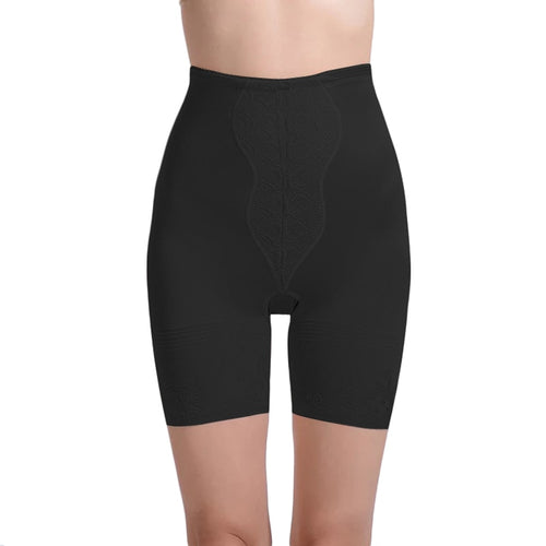 Smoothing Firm-Control Waist and Thigh Slimmer - Black