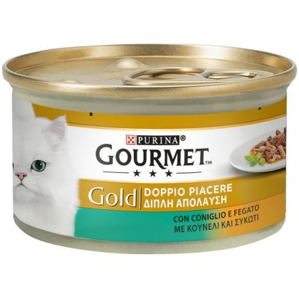 PURINA GOURMET GOLD Duo ΜΕ ΚΟΥΝΕΛΙ ΚΑΙ ΣΥΚΩΤΙ 85g