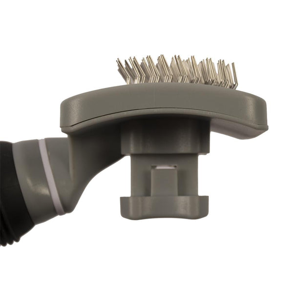 DUVO SLICKER BRUSH SELF CLEANING MEDIUM