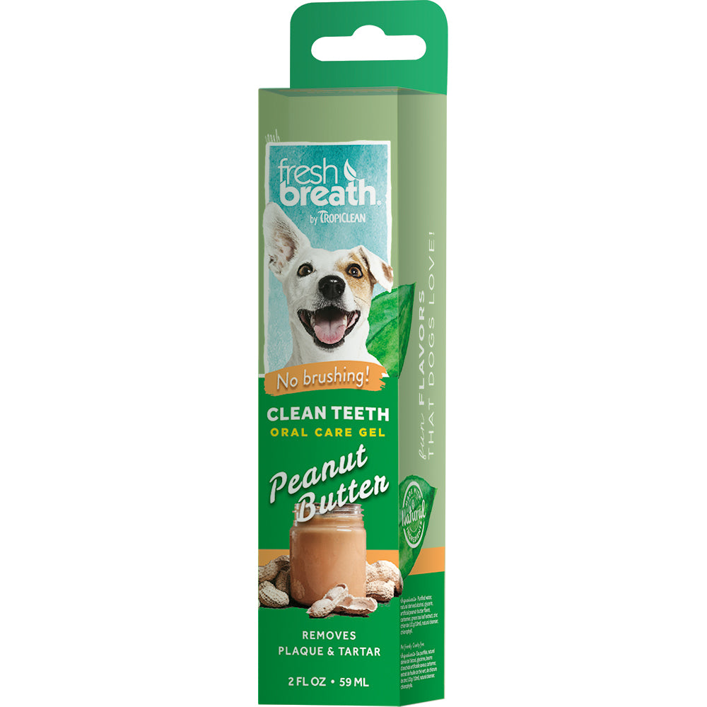 FRESH BREATH CLEAN TEETH GEL PEANUT BUTTER ΓΙΑ ΣΚΥΛΟΥΣ 59ml