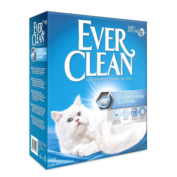 EVER CLEAN Extra Strong Clumping Unscented 10L