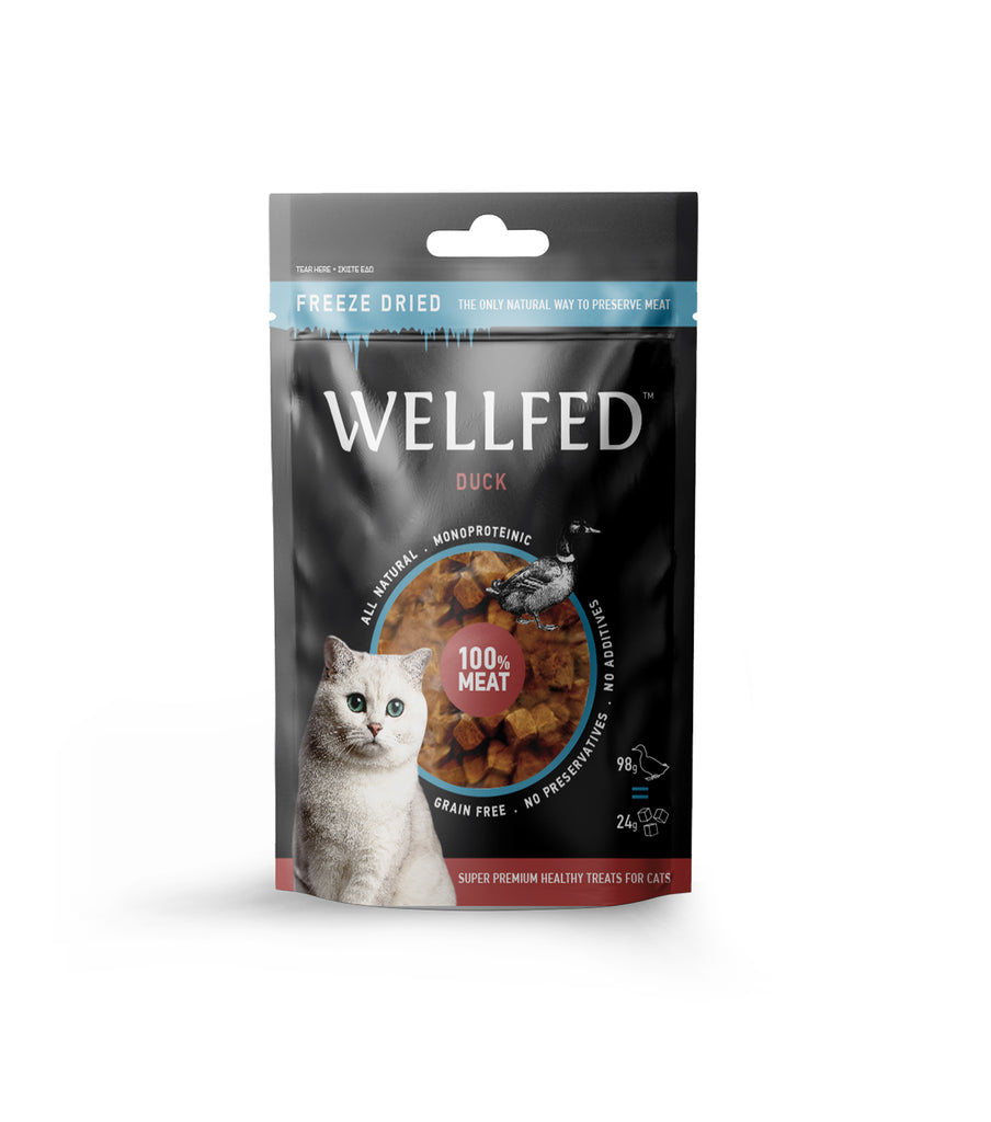 WELLFED FREEZE DRIED DUCK ΓΙΑ ΓΑΤΕΣ 24gr