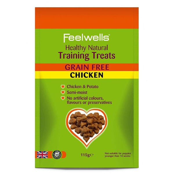 Feelwells Training Treats GRAIN FREE CHICKEN ΛΙΧΟΥΔΙΕΣ ΣΚΥΛΟΥ 115gr