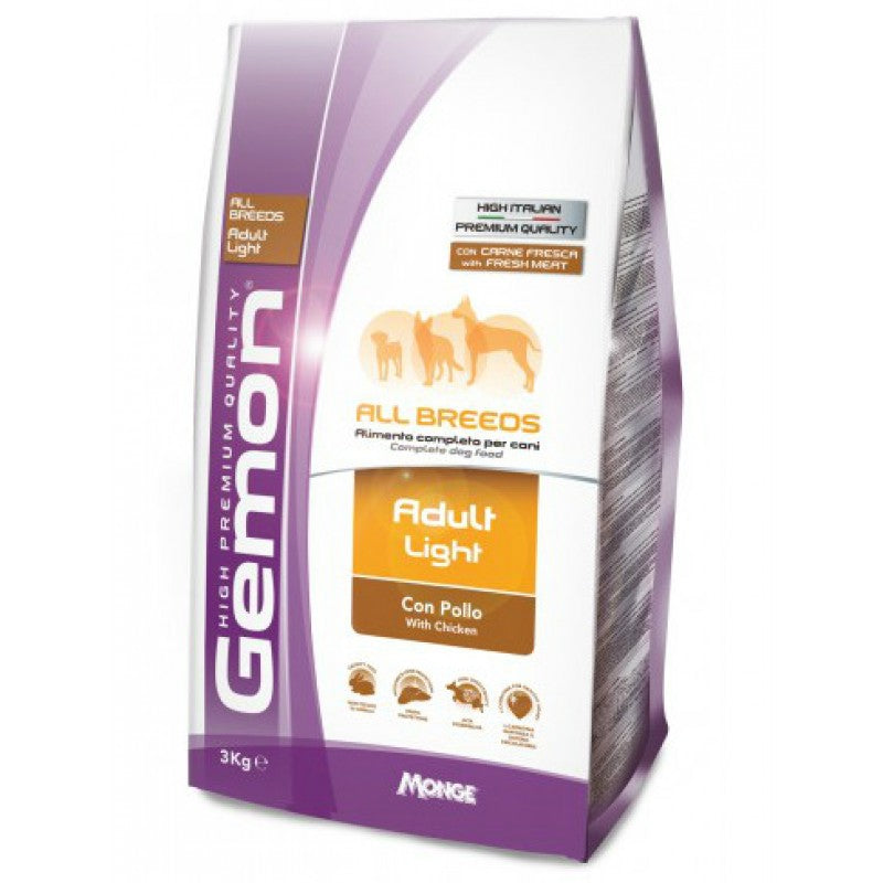 GEMON ADULT LIGHT ALL BREEDS ΜΕ ΚΟΤΟΠΟΥΛΟ 3kg